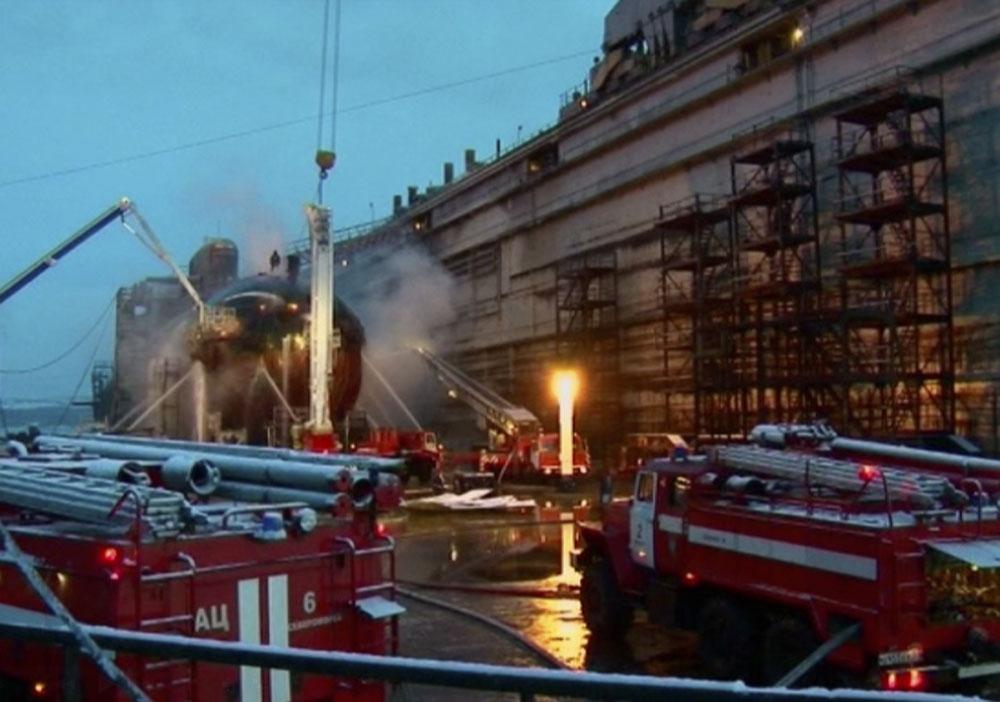 пожар на подводной лодке на камчатке