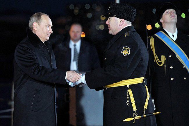 Владимир Путин в Североморске