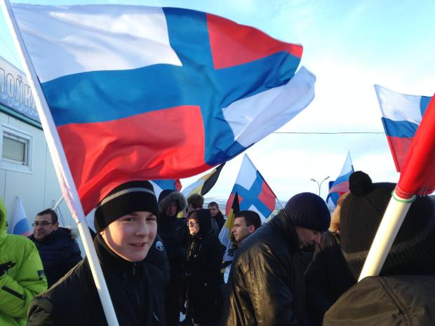 Русский марш в Мурманске 2013