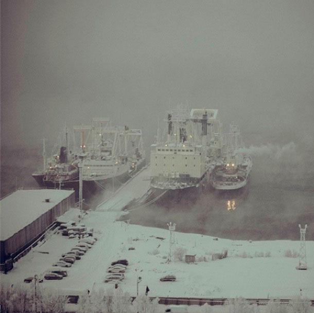 замёрзшие-кораблики