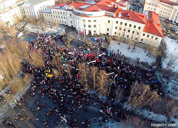 В Мурманске отмитинговали за наш Крым