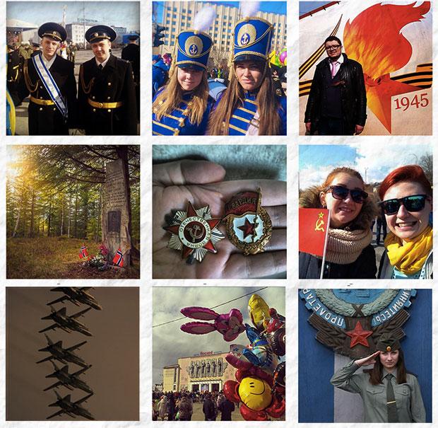 День победы в снимках Instagram