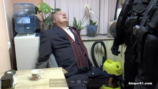 Видео задержания Михаила Егорина